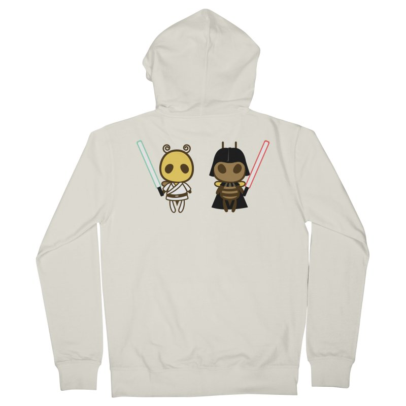 Bee Opposite - Good and Bad Men's French Terry Zip-Up Hoody by Flying Mouse365