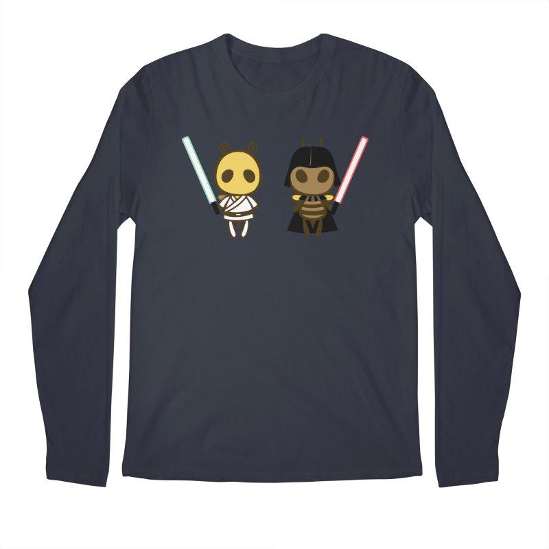 Bee Opposite - Good and Bad Men's Regular Longsleeve T-Shirt by Flying Mouse365