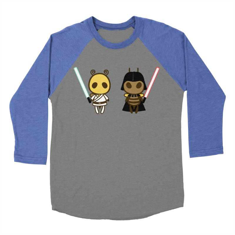 Bee Opposite - Good and Bad Men's Baseball Triblend Longsleeve T-Shirt by Flying Mouse365