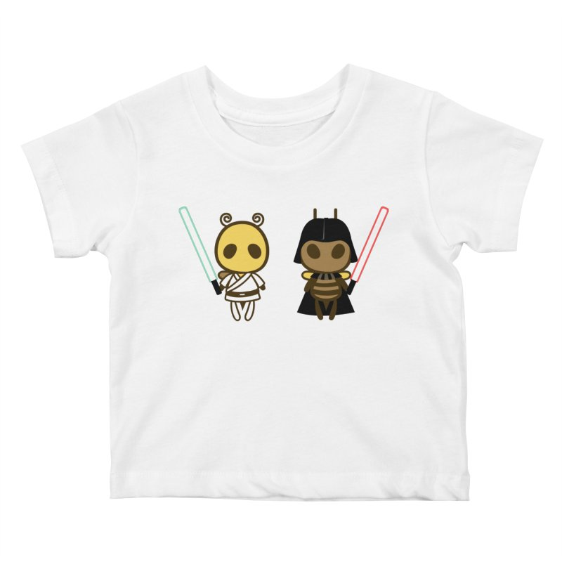 Bee Opposite - Good and Bad Kids Baby T-Shirt by Flying Mouse365