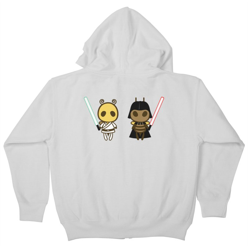 Bee Opposite - Good and Bad Kids Zip-Up Hoody by Flying Mouse365
