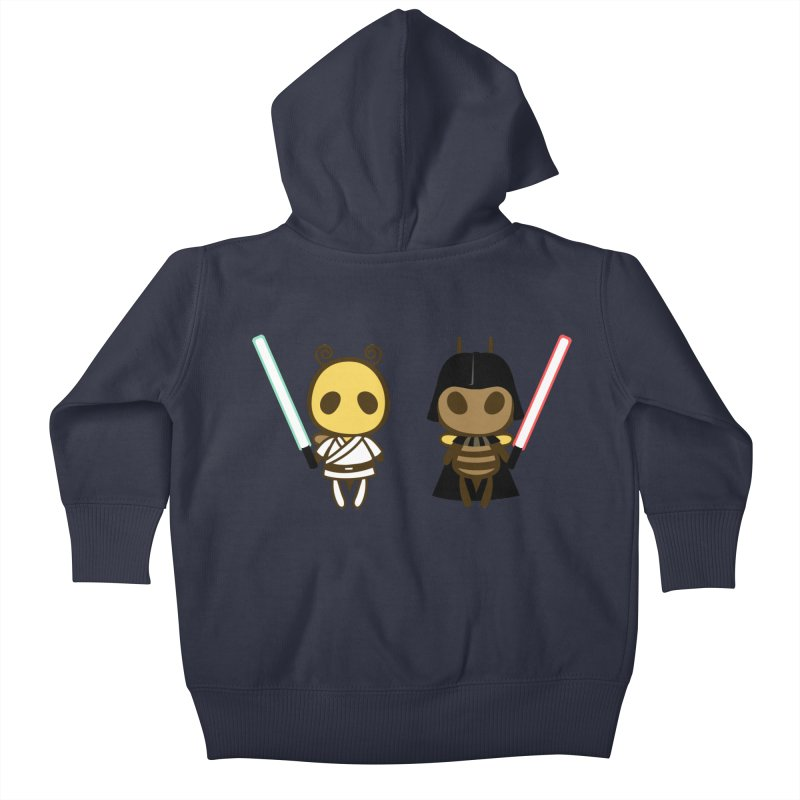 Bee Opposite - Good and Bad Kids Baby Zip-Up Hoody by Flying Mouse365