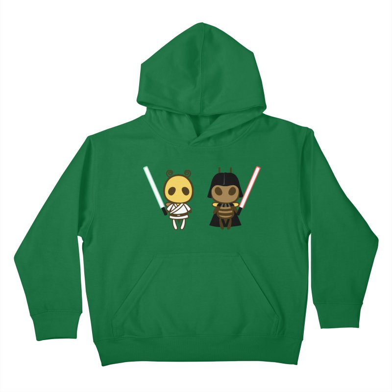 Bee Opposite - Good and Bad Kids Pullover Hoody by Flying Mouse365