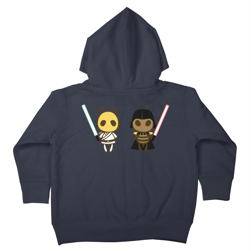 Bee Opposite - Good and Bad Kids Toddler Zip-Up Hoody by Flying Mouse365