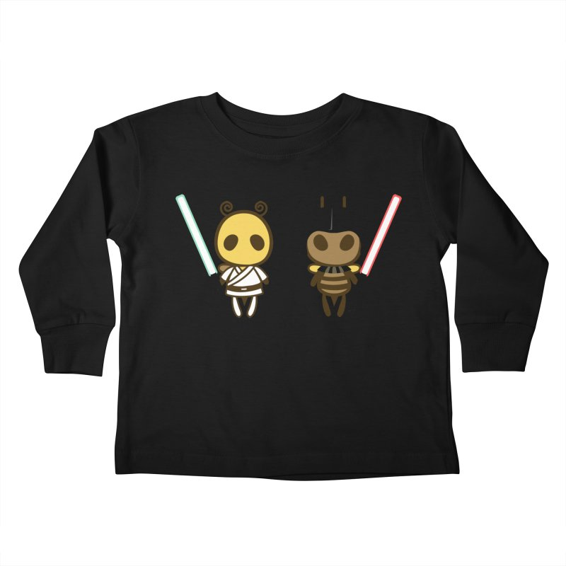 Bee Opposite - Good and Bad Kids Toddler Longsleeve T-Shirt by Flying Mouse365