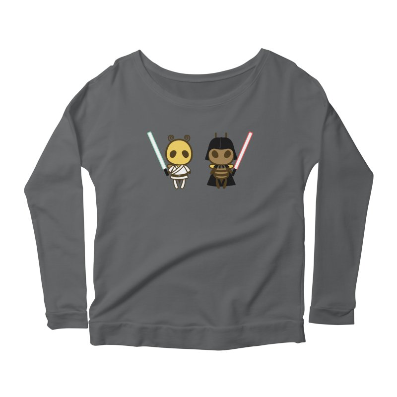 Bee Opposite - Good and Bad Women's Longsleeve Scoopneck  by Flying Mouse365