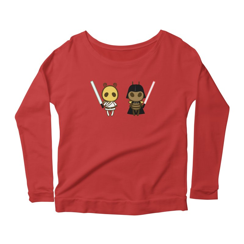 Bee Opposite - Good and Bad Women's Scoop Neck Longsleeve T-Shirt by Flying Mouse365