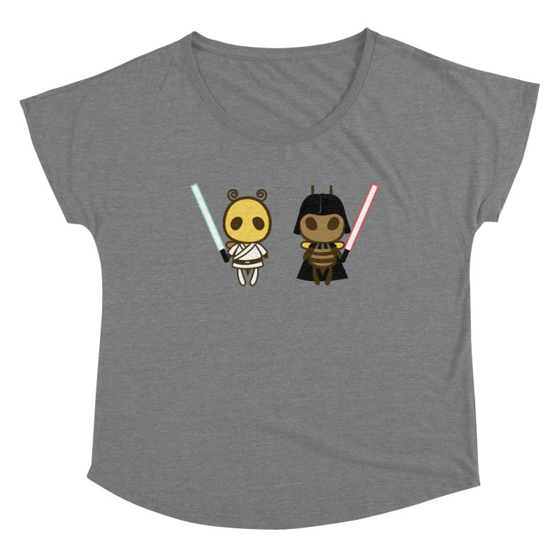 Bee Opposite - Good and Bad Women's Scoop Neck by Flying Mouse365