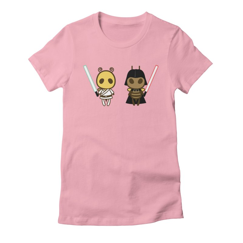 Bee Opposite - Good and Bad Women's Fitted T-Shirt by Flying Mouse365