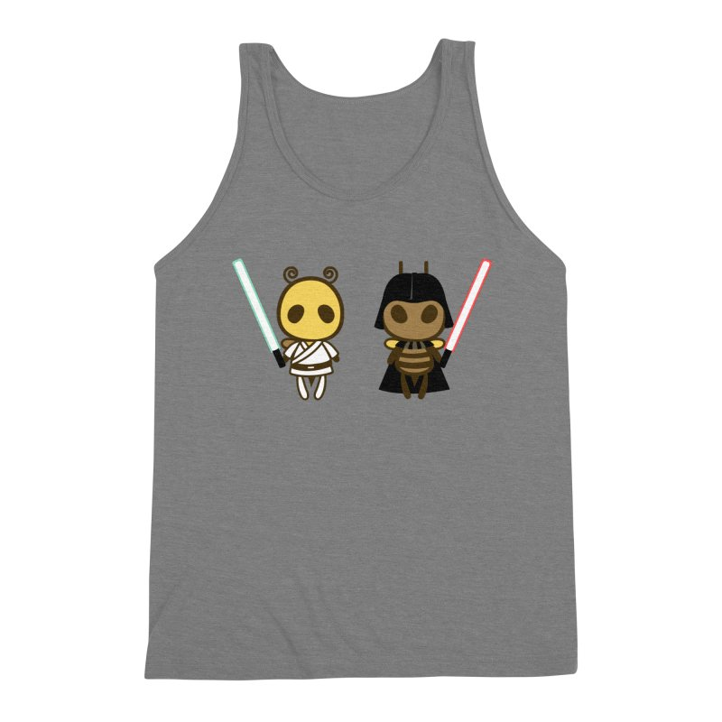 Bee Opposite - Good and Bad Men's Triblend Tank by Flying Mouse365