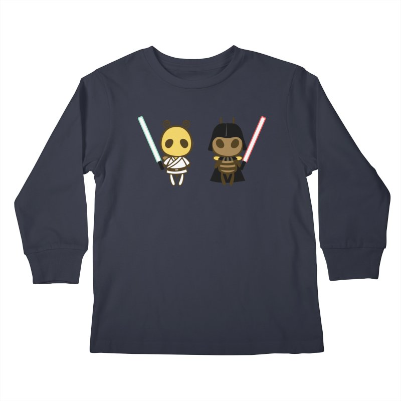 Bee Opposite - Good and Bad Kids Longsleeve T-Shirt by Flying Mouse365