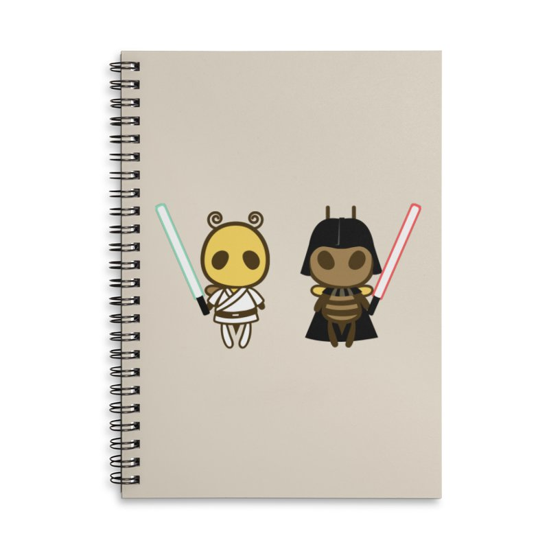 Bee Opposite - Good and Bad Accessories Lined Spiral Notebook by Flying Mouse365