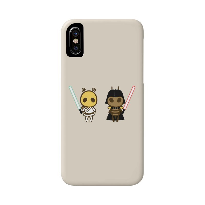 Bee Opposite - Good and Bad Accessories Phone Case by Flying Mouse365