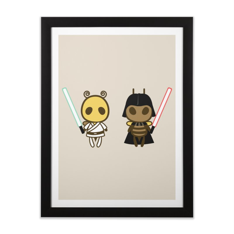 Bee Opposite - Good and Bad Home Framed Fine Art Print by Flying Mouse365