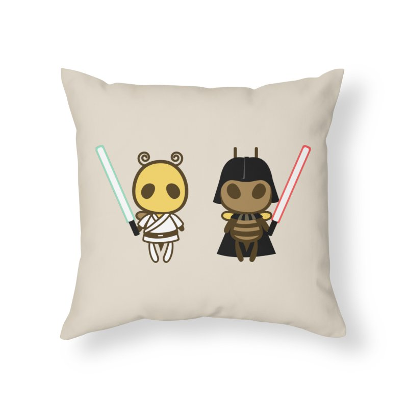 Bee Opposite - Good and Bad Home Throw Pillow by Flying Mouse365