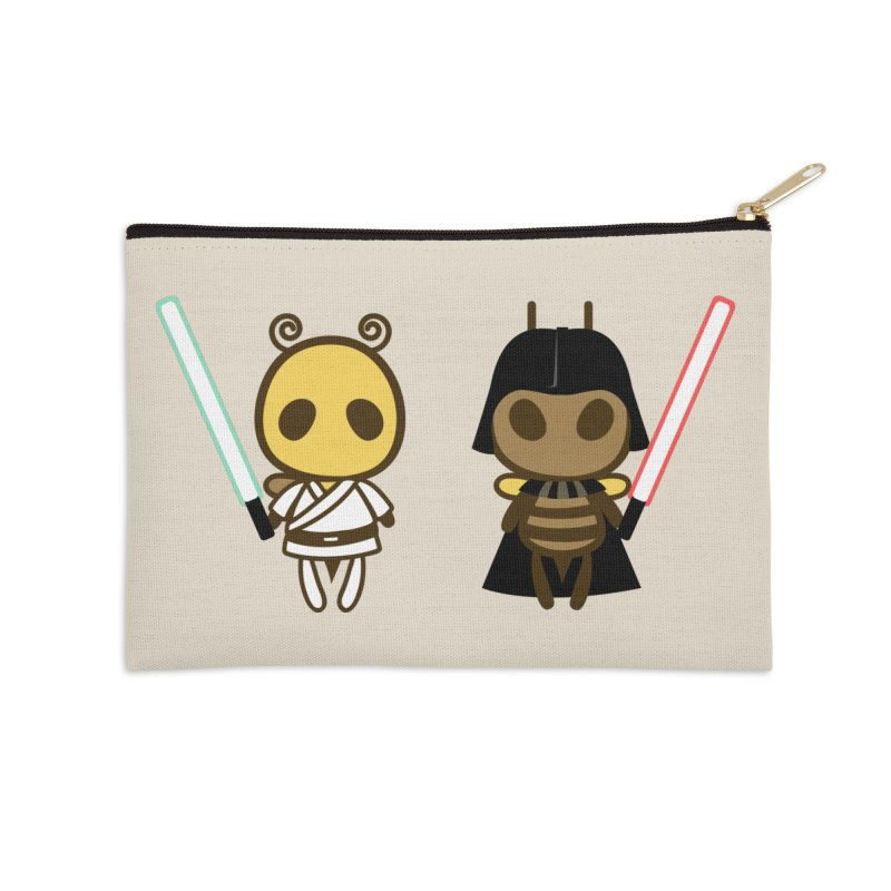 Bee Opposite - Good and Bad Accessories Zip Pouch by Flying Mouse365