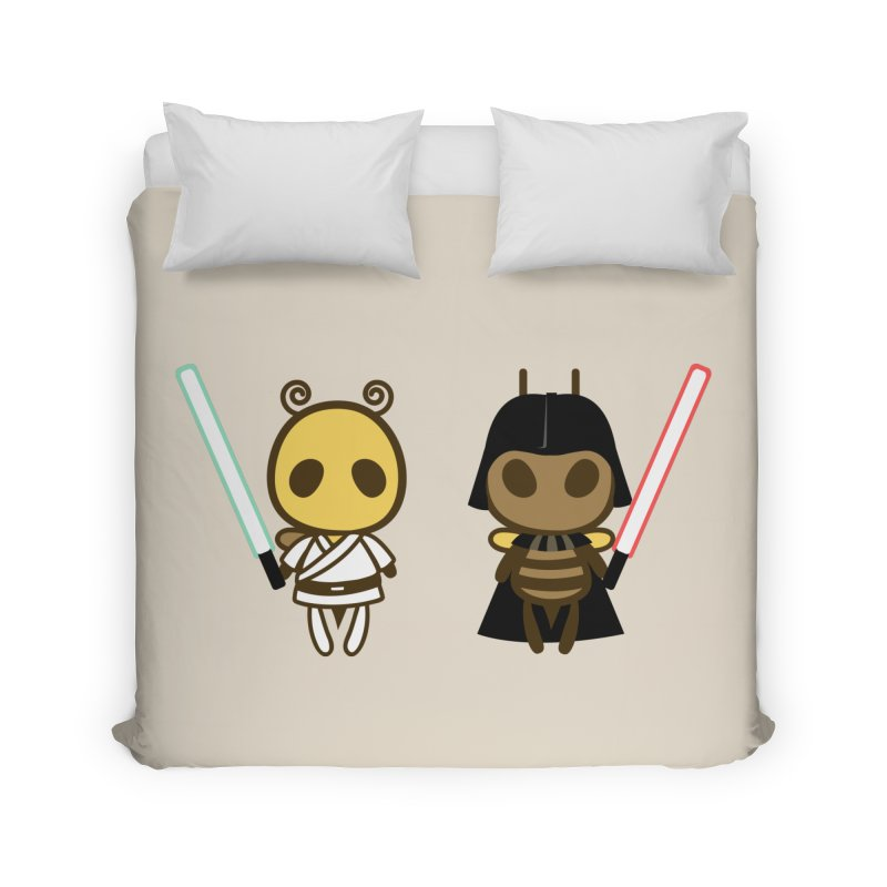 Bee Opposite - Good and Bad Home Duvet by Flying Mouse365