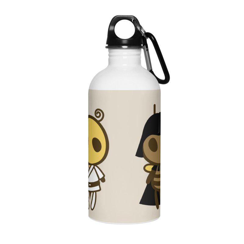Bee Opposite - Good and Bad Accessories Water Bottle by Flying Mouse365
