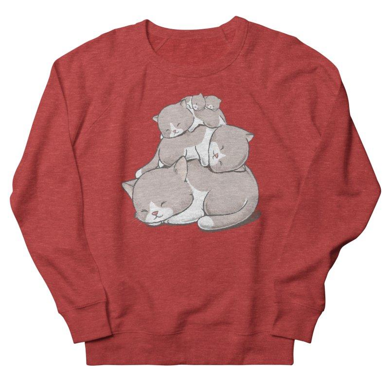 Comfy Bed - CAT Women's Sponge Fleece Sweatshirt by Flying Mouse365
