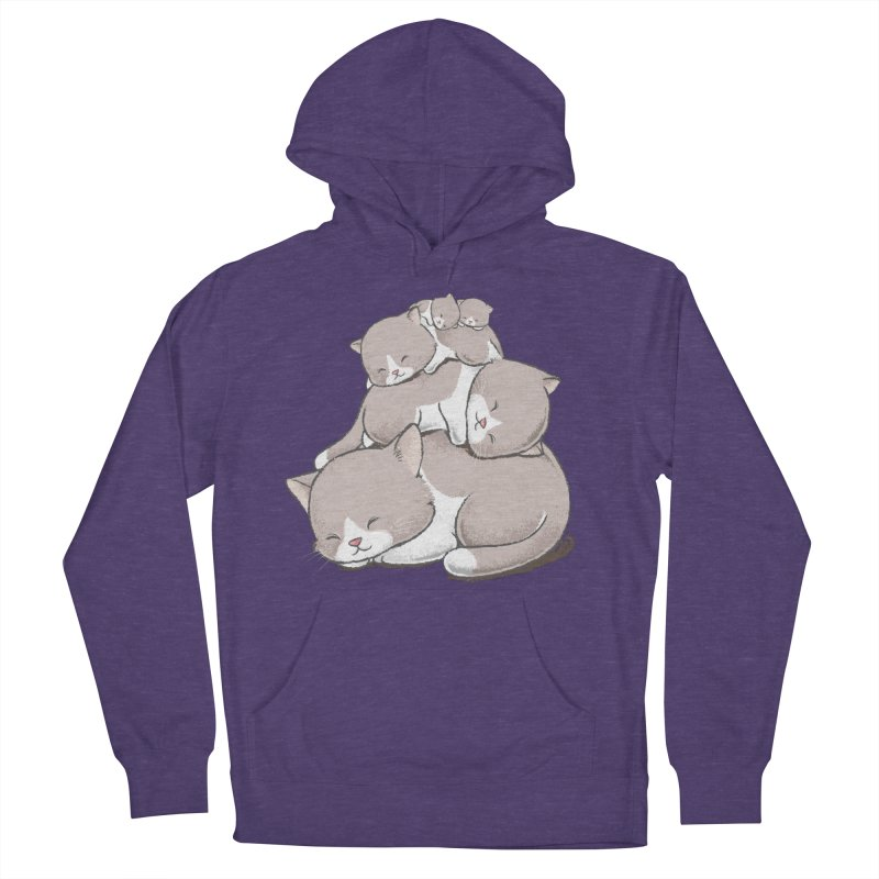 Comfy Bed - CAT Women's French Terry Pullover Hoody by Flying Mouse365