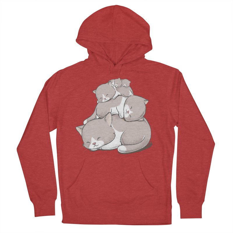 Comfy Bed - CAT Men's French Terry Pullover Hoody by Flying Mouse365