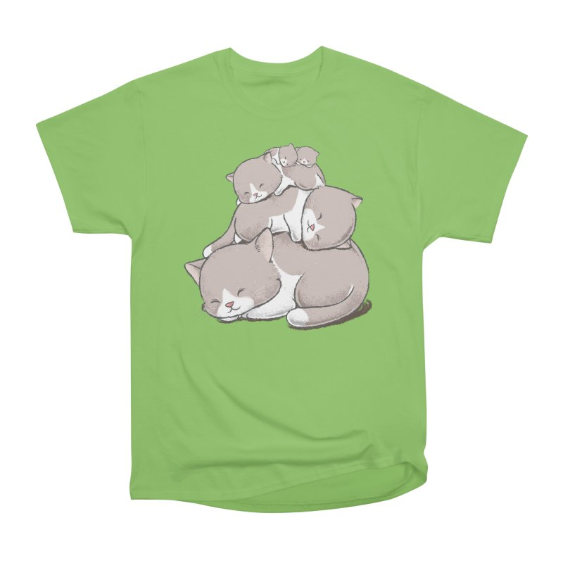 Comfy Bed - CAT Women's Heavyweight Unisex T-Shirt by Flying Mouse365