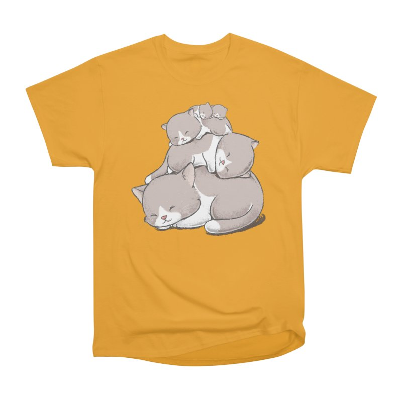 Comfy Bed - CAT Men's Heavyweight T-Shirt by Flying Mouse365