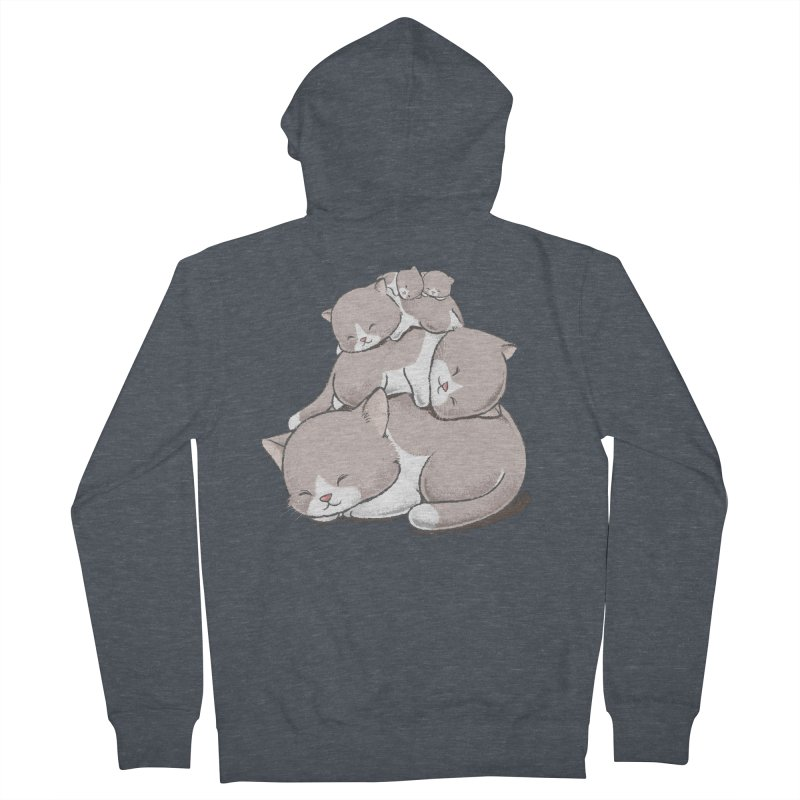 Comfy Bed - CAT Women's Zip-Up Hoody by Flying Mouse365