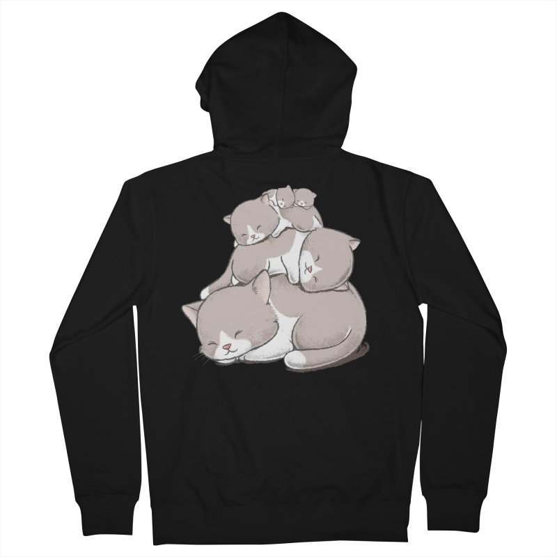 Comfy Bed - CAT Men's French Terry Zip-Up Hoody by Flying Mouse365