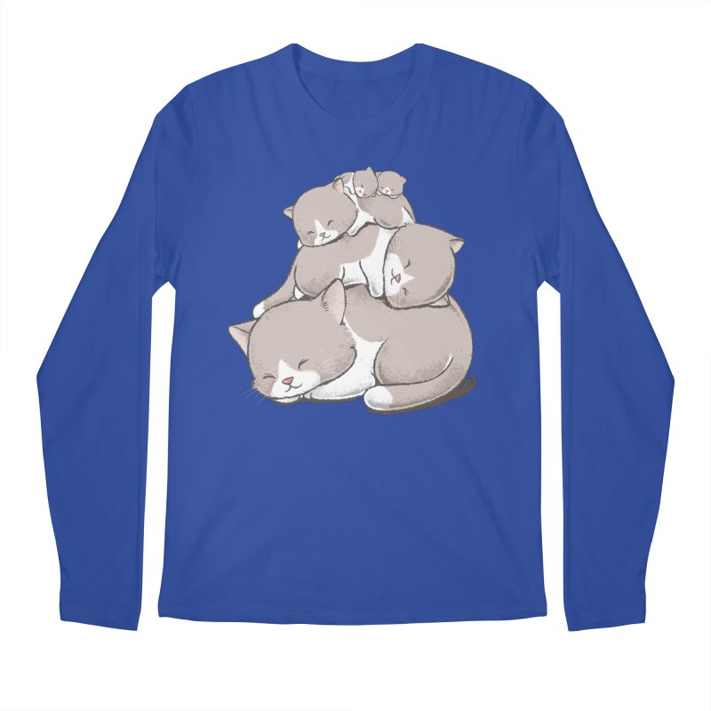 Comfy Bed - CAT Men's Regular Longsleeve T-Shirt by Flying Mouse365