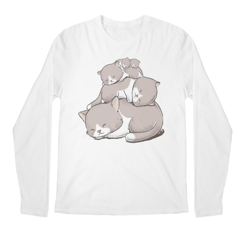 Comfy Bed - CAT Men's Regular Longsleeve T-Shirt by Flying Mouse365