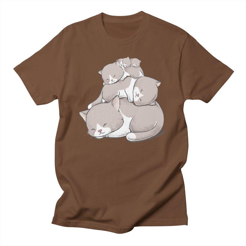 Comfy Bed - CAT Men's Regular T-Shirt by Flying Mouse365