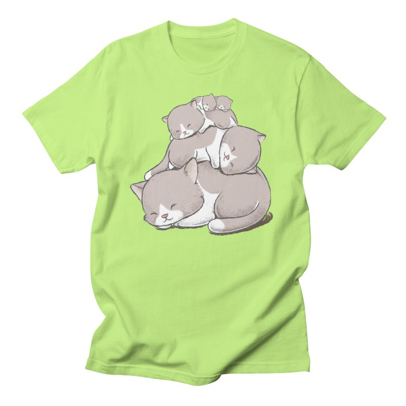 Comfy Bed - CAT Men's Regular T-Shirt by Flying Mouse365
