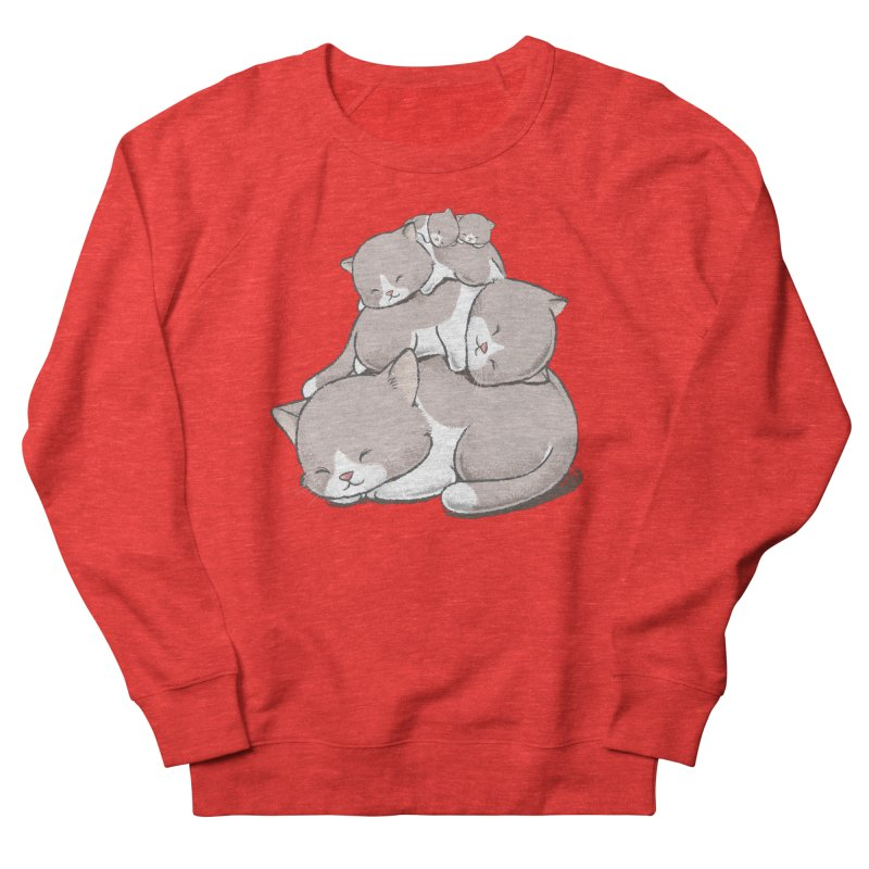 Comfy Bed - CAT Women's Sweatshirt by Flying Mouse365