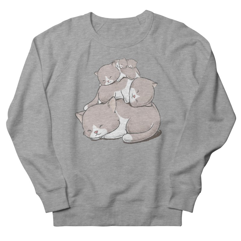 Comfy Bed - CAT Women's French Terry Sweatshirt by Flying Mouse365