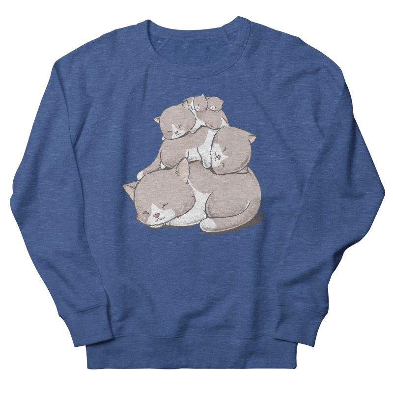 Comfy Bed - CAT Men's Sweatshirt by Flying Mouse365