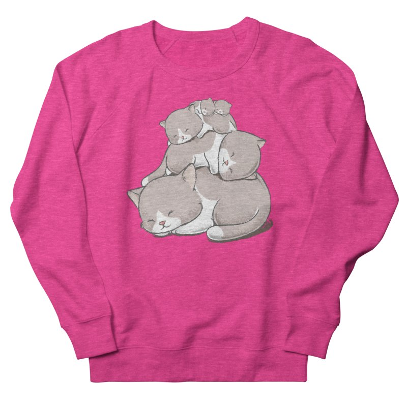 Comfy Bed - CAT Men's French Terry Sweatshirt by Flying Mouse365
