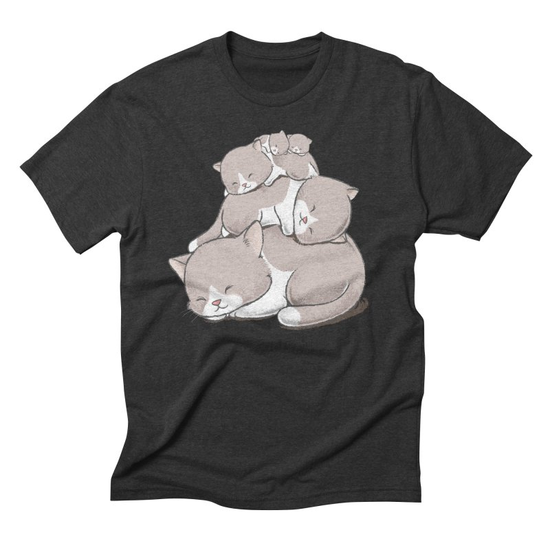 Comfy Bed - CAT Men's T-Shirt by Flying Mouse365
