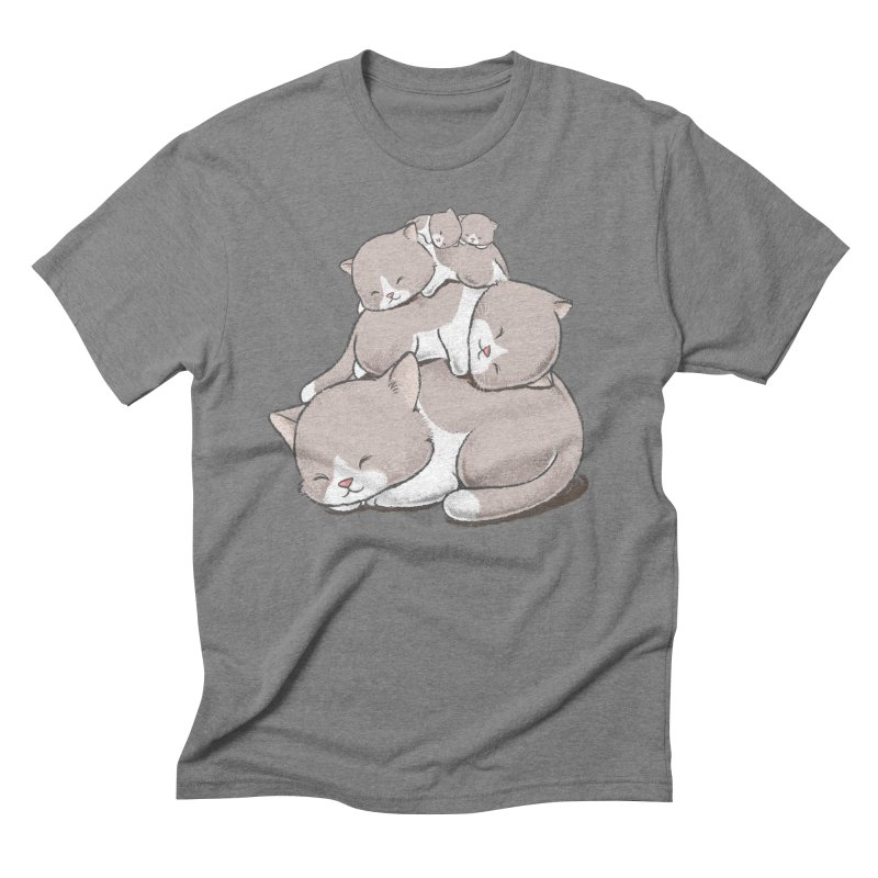 Comfy Bed - CAT Men's Triblend T-Shirt by Flying Mouse365