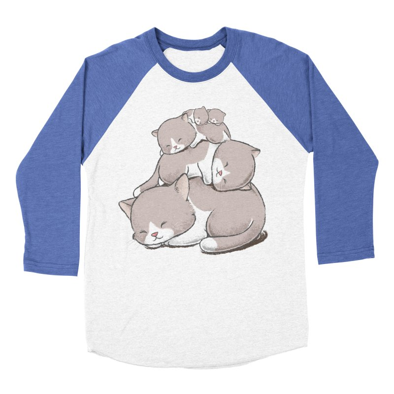 Comfy Bed - CAT Women's Baseball Triblend T-Shirt by Flying Mouse365