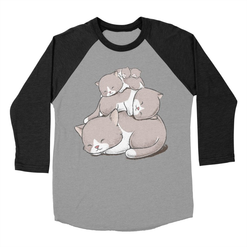 Comfy Bed - CAT Women's Baseball Triblend Longsleeve T-Shirt by Flying Mouse365