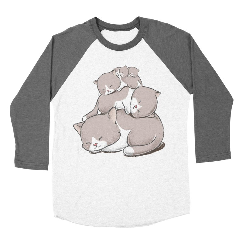 Comfy Bed - CAT Men's Baseball Triblend Longsleeve T-Shirt by Flying Mouse365