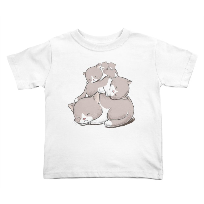 Comfy Bed - CAT Kids Toddler T-Shirt by Flying Mouse365