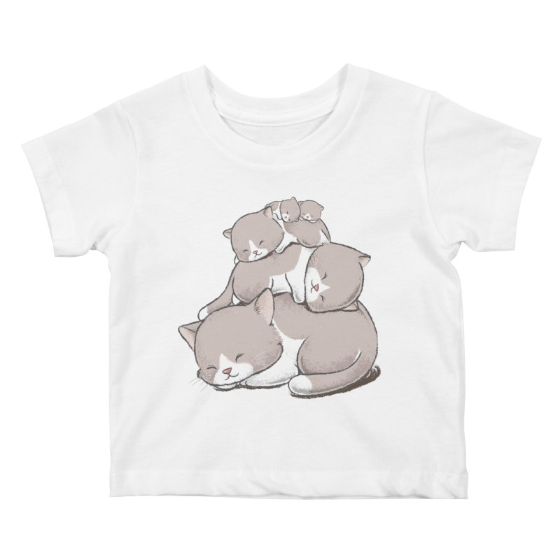 Comfy Bed - CAT Kids Baby T-Shirt by Flying Mouse365