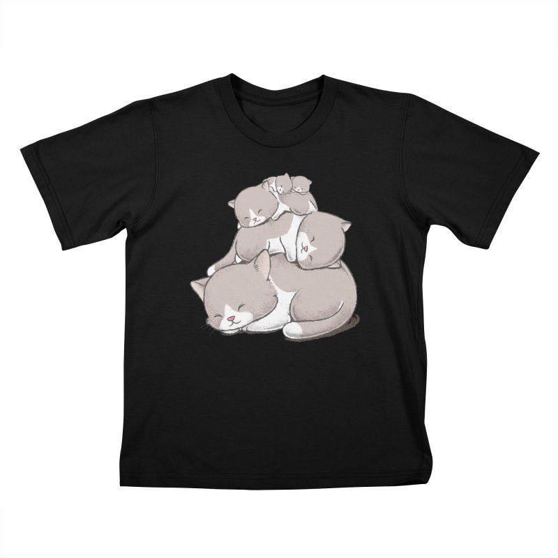 Comfy Bed - CAT Kids T-Shirt by Flying Mouse365