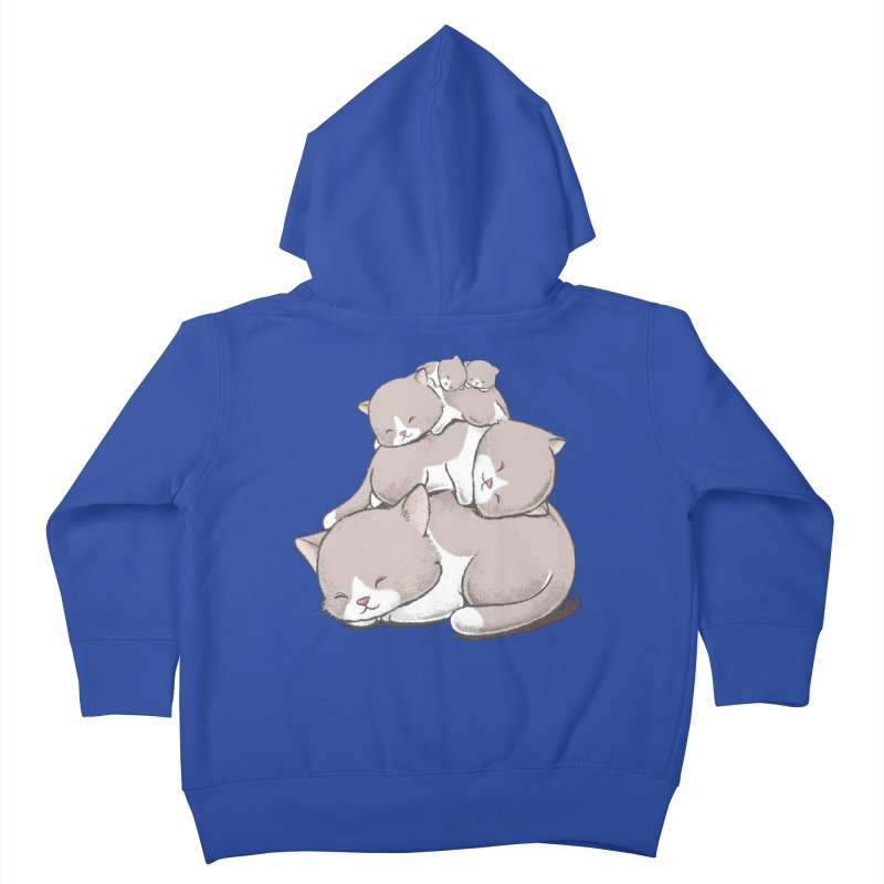 Comfy Bed - CAT Kids Toddler Zip-Up Hoody by Flying Mouse365