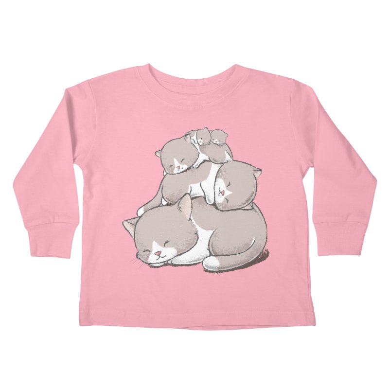 Comfy Bed - CAT Kids Toddler Longsleeve T-Shirt by Flying Mouse365