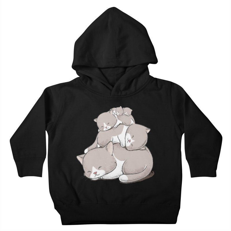 Comfy Bed - CAT Kids Toddler Pullover Hoody by Flying Mouse365