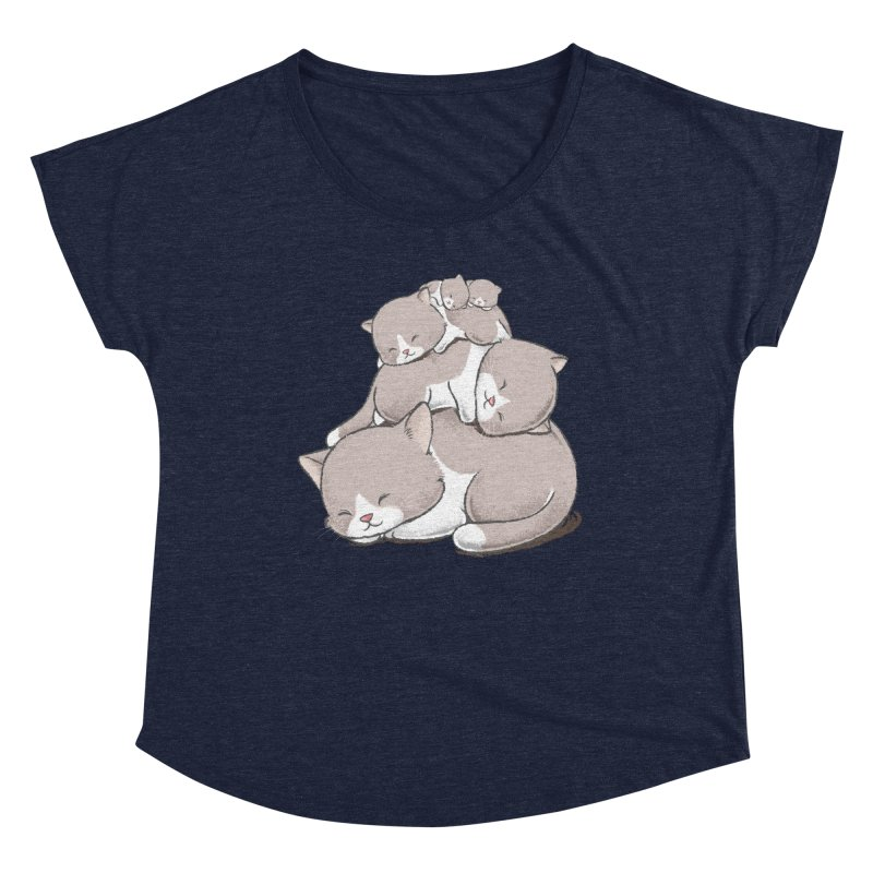 Comfy Bed - CAT Women's Scoop Neck by Flying Mouse365