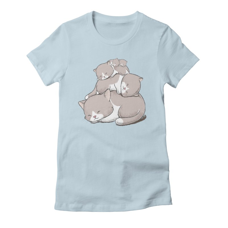 Comfy Bed - CAT Women's T-Shirt by Flying Mouse365